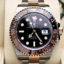 Rolex GMT-Master II Or/Acier 40mm Noir Sans chiffres