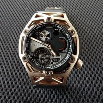 恒寶 Techframe Ferrari Tourbillon Chronograph 408.OI.0123.RX 全新 玫瑰金 45mm 手動發條