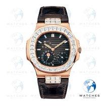 Patek Philippe Rose gold Automatic Black No numerals 40mm pre-owned Nautilus