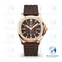 Patek Philippe Rose gold Automatic Brown Arabic numerals new Aquanaut