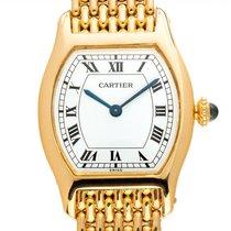 Cartier Tortue Gelbgold 30mm Weiß Römisch