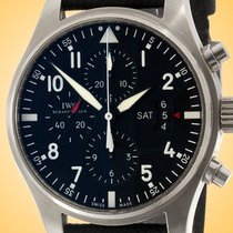 IWC Pilot Chronograph Steel 43mm Black