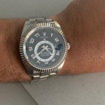 Rolex Sky-Dweller Or blanc 42mm Blanc Romains