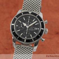 Breitling Superocean Héritage Chronograph occasion 46mm Noir Chronographe Date Acier