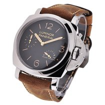 Panerai Luminor 1950 3 Days Power Reserve PAM 00423 Nieuw Staal 47mm Handopwind