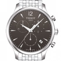 Tissot Tradition Steel 42mm Black Arabic numerals