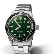 Oris Steel Automatic Green 40mm new Divers Sixty Five