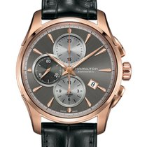 Hamilton Rose gold Automatic Brown 42mm new Jazzmaster Auto Chrono