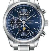 Longines Master Collection Steel 42mm Blue Arabic numerals