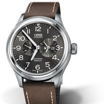 Oris Big Crown ProPilot Worldtimer Steel 44.7mm Grey United States of America, Michigan, Toronto