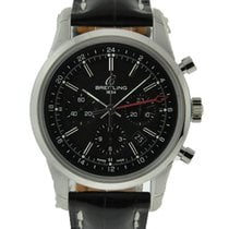 Breitling Transocean Chronograph GMT Acero Negro