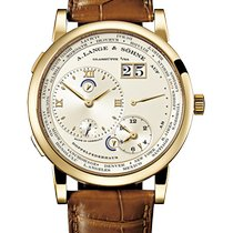 A. Lange & Söhne Lange 1 Yellow gold 41.9mm Silver