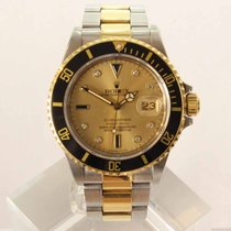 Rolex Submariner Date Goud/Staal 40mm Champagne Geen cijfers