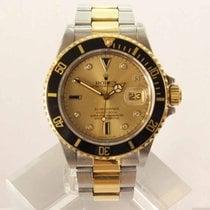 Rolex Submariner Date Gold/Stahl 40mm Champagnerfarben Keine Ziffern