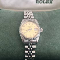 Rolex Oyster Perpetual Lady Date usados 26mm Champán Fecha Acero