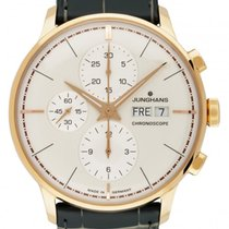 Junghans Rose gold Automatic Champagne 40.7mm new Meister Chronoscope