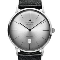 Hamilton Intra-Matic Zeljezo 42mm Srebro