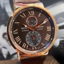 Ulysse Nardin Marine Chronometer 43mm Or/Acier 43mm Brun Romains