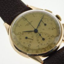 Universal Genève Yellow gold Manual winding Champagne Arabic numerals 37mm pre-owned Compax