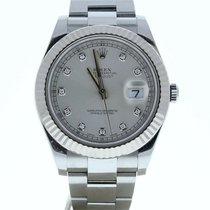 Rolex Silber Automatik 41mm gebraucht Datejust II