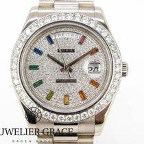 Rolex Day-Date II White gold 41mm Silver