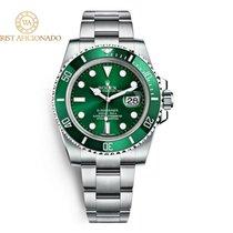 Rolex Submariner Date Aço 40mm Verde Sem números