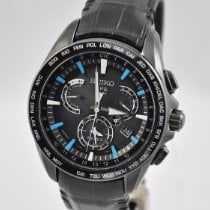 Seiko Astron GPS Solar Chronograph Steel 45mm Black