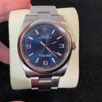 Rolex Oyster Perpetual 36 pre-owned 36mm Blue Steel