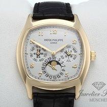Patek Philippe Perpetual Calendar Žluté zlato 37mm Stříbrná Arabské