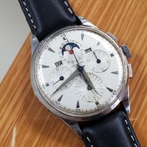 Universal Genève Compax Steel 35mm Silver Arabic numerals United States of America, California, Los Angeles