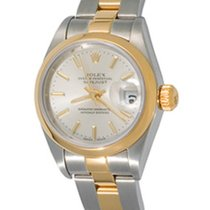 Rolex Oyster Perpetual Lady Date Acero 25mm Plata Sin cifras