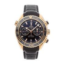 Omega Seamaster Planet Ocean Chronograph Roségold 45.5mm Schwarz Keine Ziffern