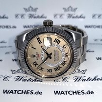 Rolex Or blanc Remontage automatique Champagne 42mm occasion Sky-Dweller