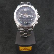 Breitling B-1 gebraucht 44mm Schwarz Chronograph Datum Wochentagsanzeige Ewiger Kalender Wecker GMT/Zweite Zeitzone Stahl