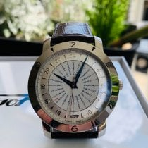 Tissot Heritage Navigator pre-owned 43mm Silver GMT Leather
