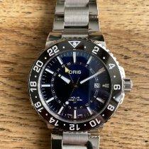 Oris Aquis GMT Date Acero 43.5mm Azul Sin cifras