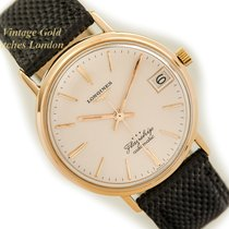 Longines pre-owned Manual winding 35mm Champagne Plexiglass 5 ATM