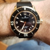 Blancpain Fifty Fathoms Oro rosa 45mm Negro Arábigos