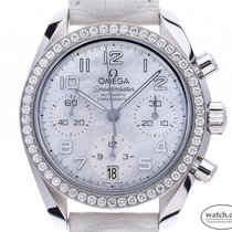 Omega 324.18.38.40.05.001 Steel Speedmaster Ladies Chronograph 38mm new