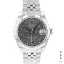 Rolex Lady-Datejust Stahl 31mm Grau Arabisch