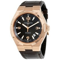 Vacheron Constantin Rose gold Automatic Black 42mm pre-owned Overseas