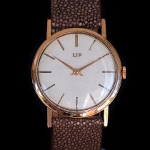 Lip Rose gold 32mm Manual winding pre-owned