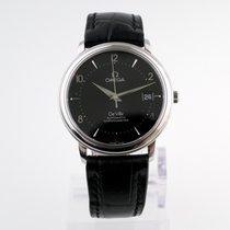 Omega De Ville Co-Axial Steel 36,5mm Black No numerals