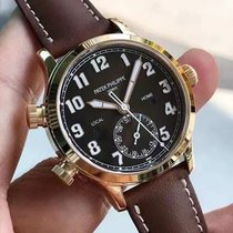 Patek Philippe Travel Time Rose gold 37.5mm Brown Arabic numerals
