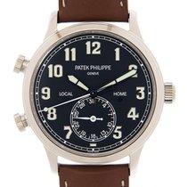 Patek Philippe Travel Time 5524G-001 Ny Hvitt gull 42mm Automatisk