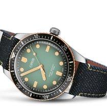 Oris Divers Sixty Five 733 7707 4337-SET Oris Divers 65 Momotaro Limited 40mm Verde 2020 new