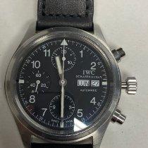 IWC Pilot Chronograph Acier 39mm Noir Arabes France, Hendaye