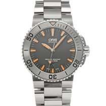 Oris Steel Automatic Grey 43mm pre-owned Aquis Date