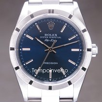 Rolex Air King Precision pre-owned 34mm Blue Steel