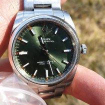 Rolex Oyster Perpetual 34 Acero 34mm Verde Arábigos